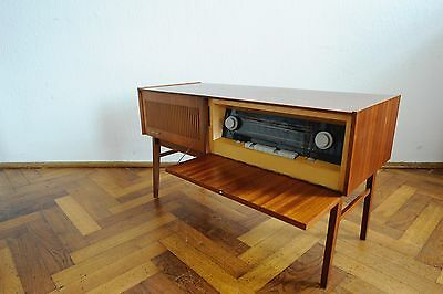 60s Vintage Sideboard Tube Radio Kosmos 108 RFT Wood Valve Rema 2005 Germany