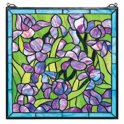 Stained Glass Panel - Van Gogh Saint-Remy Iris vetrata impiccagioni - (t9R)