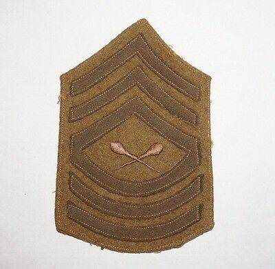 Drum Major Master Sergeant Chevron WWI US Army Wool Rank Patch C0366