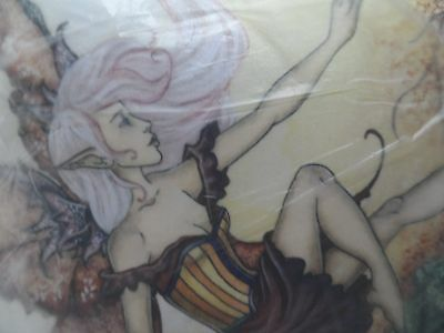 """Pillow Ann Stokes Cushion NEW in packet """"The Introduction"""" fantasy artist"""