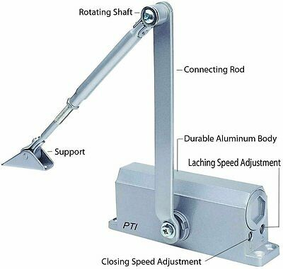 BEST SELLER Automatic Door Closer With Hydraulic Hinge - Slowly Closes and Shuts