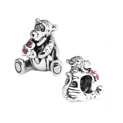 S925 Sterling Silver European Tigger from Winnie Pooh Charm - FREE Pandora Cloth