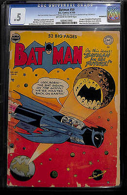 Batman DC comic issue 59 CGC 0.5 Golden age book 1st appearance Deadshot