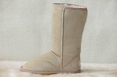 Ugg Boots Tall, Synthetic Wool, Size 2 for Youth Children, Colour Beige