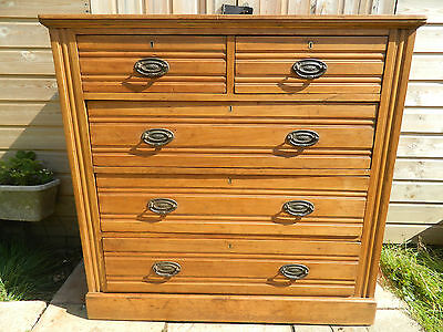 Satin Wood Chest Of Drawers