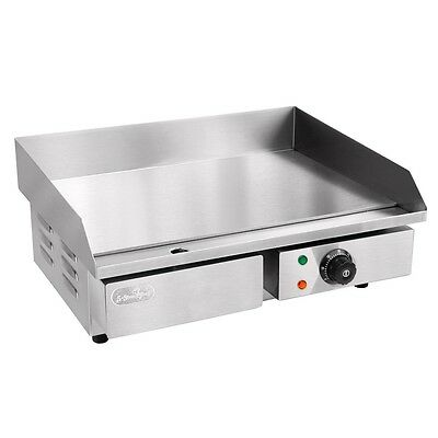 Commercial Electric Griddle GRILL HOT PLATE STAINLESS STEEL BBQ Countertop
