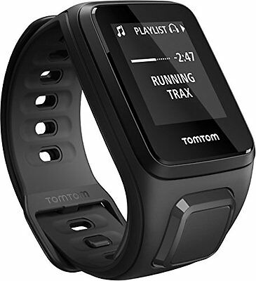 TomTom Spark Cardio + Music - sport watches (Black, 40 m, 144 x 168 (T1i)