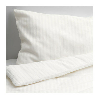 New IKEA LEKLYSTEN Quilt cover/pillowcase for cot, white