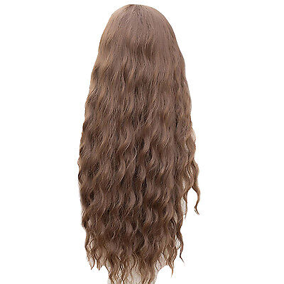 Cosplay Party New Fashion Women Lady Long Curly Wavy Hair Full Wigs Light BF