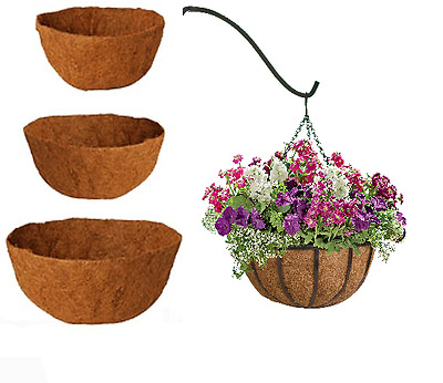 Hanging Basket Liners - Coco Liners Pick Size & Quantity Coconut  Liners Brown