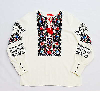 Ukrainian *HANDMADE* embroidered shirt for ladies vyshyvanka, sorochka, blouse