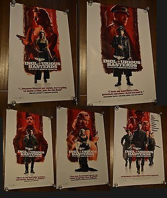 Inglourious Basterds original 2009 1 sheet poster Quentin Tarantino Full Set x5