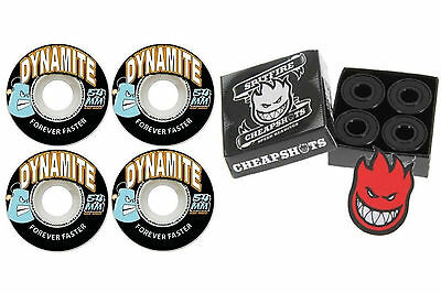 Dynamite Forever 54mm Skateboard Wheels + Spitfire Bearings + FREE POST