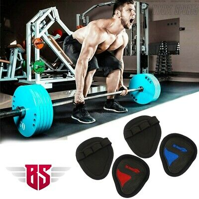 2x Pairs Neoprene Weight Lifting Gel Grips Training Gym Straps Gloves Hand Thick