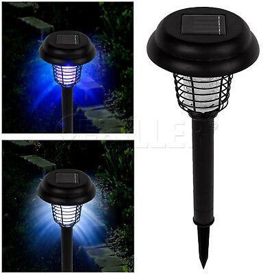 EXTRA LARGE 44cm Solar UV Bug LED Light Mosquito Fly Insect Zapper Killer Garden
