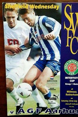Sheffield Wednesday V Agf Aarhus 22/7/1995 Uefa Intertoto Cup @ Rotherham