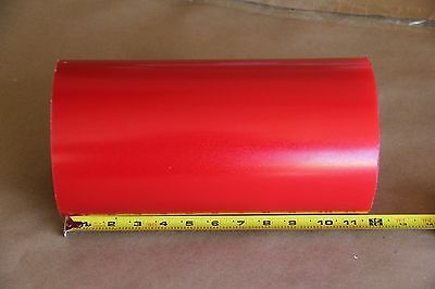 "6"" Red Urethane/Polyurethane Rod 90A 11.5"" Long 1406"