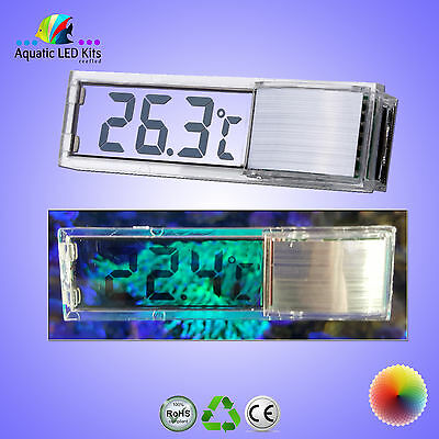 Mini Transparent Thermometer Digital LED Fish Tank, Aquarium Modern UK