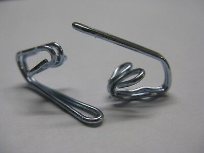 Silver Curtain Hooks - Header Tape Pencil Pleat - Strong Solid Metal Steel Rails