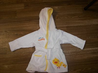 Carter's Just One Year Ducky Duck Hooded Bath Robe Size 0-9 Months