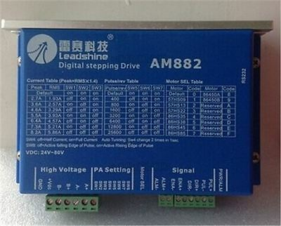 Leadshine Am882 Digital 80Vdc 0.1A - 8.2A Protect Function Stepper Motor Drive J