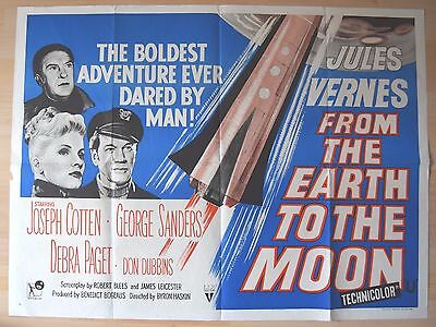 From the Earth to the Moon, Original UK Quad Poster, Joseph Cotten, '58