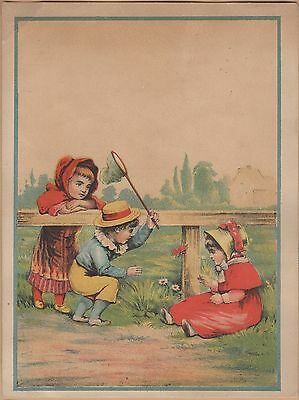 Victorian Trade Card-Star Soap-Schultz & Co-Zanesville OH-Kids Chasing Butterfly