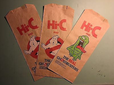 Hi-C Hi C Ecto Cooler The Real Ghostbusters Paper Bag Advertising Promo 1989 X3
