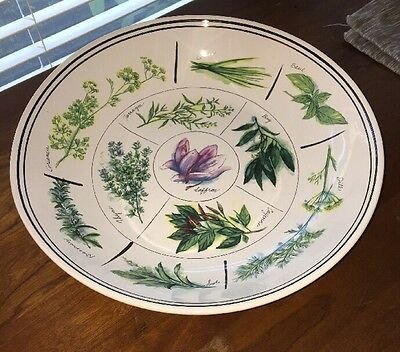 Williams Sonoma Herbs Spices Large Pasta Serving Bowl Plus 1 Bay Leaf Bowl