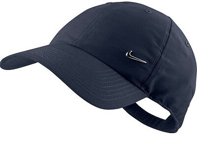 Nike Navy Blue Cap Hat Unisex Metal Swoosh One Size Adjustablel Hats