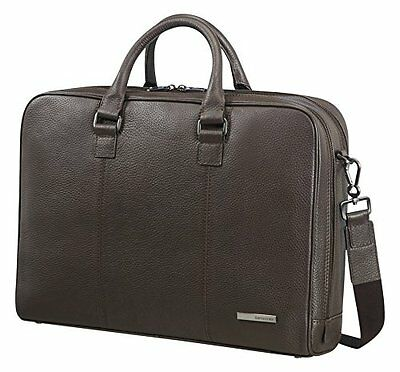 "Samsonite Equinox Borsa Messenger 2c 15.6"", Pelle, Dark Brown, 14.5 ml, (L5H)"