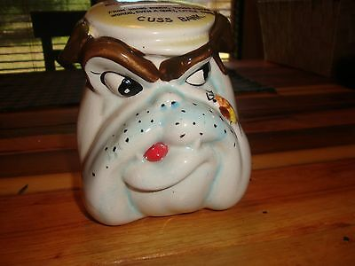 Vintage Dabs Japan Bulldog Bank With A Bumblebee Cuss Bank And Temer Charges