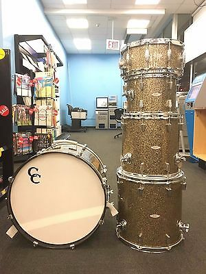 C&C Gladstone Drum Set  ~ Rare 5 piece ~ Ginger Glitter