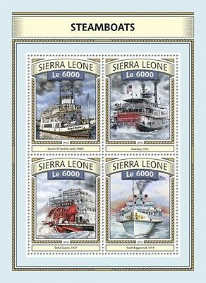 Z08 IMPERFORATED SRL161117a SIERRA LEONE 2016 Steamboats MNH Postfrisch