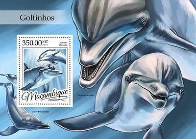 Z08 IMPERFORATED MOZ16309b MOZAMBIQUE 2016 Dolphins MNH