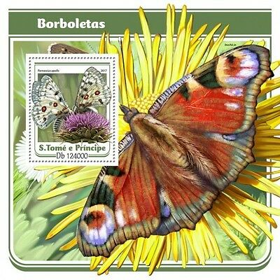 Z08 IMPERF. ST17103b Sao Tome and Principe 2017 Butterflies MNH Mint