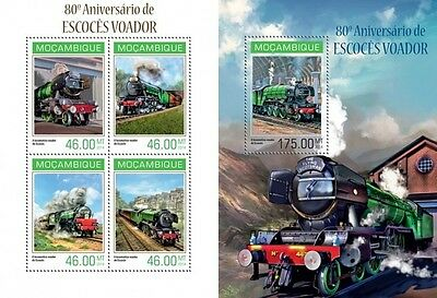 MOZ14115ab Mozambique 2014 The Flying Scotsman MNH SET