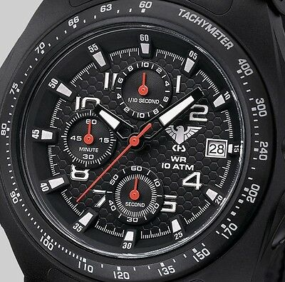 KHS Tactical Watches Professional Analog Chronograph C1-Light Black Eagle Band