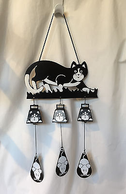 Cat Bell Chime, Hanging Cat Bells and Mice on a String Attached to Clappers