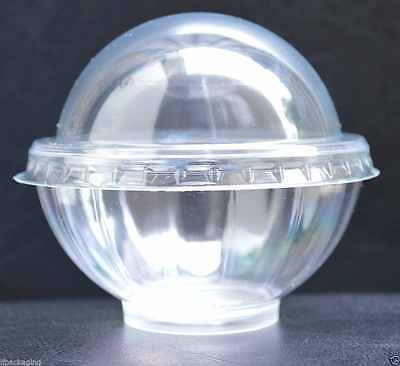 TRANSPARENT Single Cupcake Muffin Case Individual Pod Dome Lid Cup Cake Box SAKE