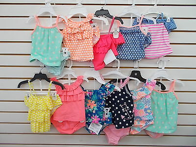 Infant & Toddler Girls Carter's 2pc Assorted Tankini Swimsuits Size 18 Months-3T