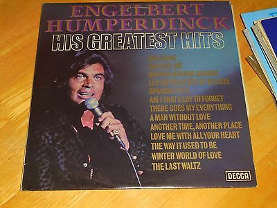LP/ ENGELBERT HUMPERDINCK /HIS GREATEST HITS (1970s UK DECCA  STEREO