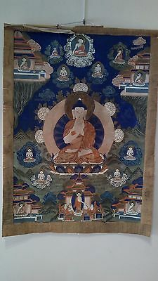 Thangka Tibétain Fin Xix Siecles