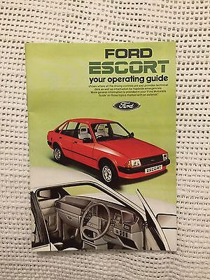 Classic Ford Escort Operating Guide Handbook Owners Manual Mk3 Series 1 1600i