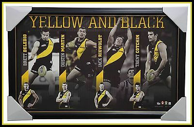 Richmond AFL Yellow & Black L/E Print Framed Cotchin Martin Deledio Riewoldt