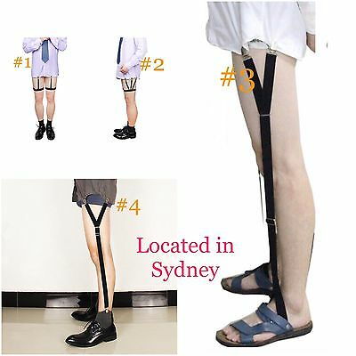 2pcs Shirt Stay Shirt Holder Garter Belt Clamp Clip Non-slip Suspender