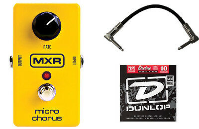 MXR M148 Micro Chorus Guitar Effects Pedal with Strings & Cable!