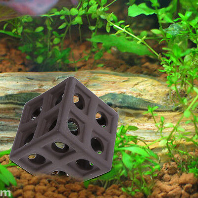 Aquarium Ceramic Cube Hiding Cave Fish Shrimp Crab Shelter Fish Tank Breeding