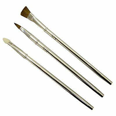 STY, Set di pennelli lunghi per make-up, 3 pz. (b9G)
