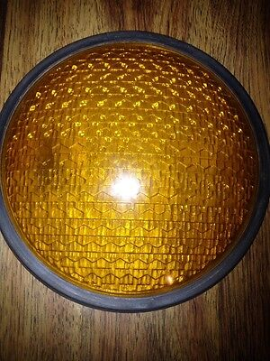 "8"" Glass Traffic Light Signal Lens Yellow"